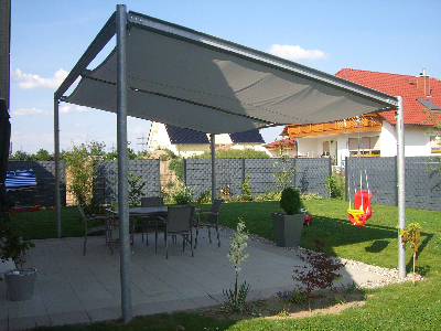 Pergola Regenschutz schattenladen im schatten die sonne genießen